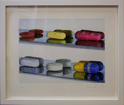 Hand Signed Six Pills by Damien Hirst Framed