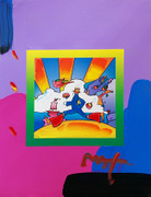 Hand Signed Cosmic Runner (Overpaint) By Peter Max Retail $4.2K