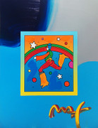 Hand Signed Cosmic Jumper(Overpaint) By Peter Max Retail $4.2K
