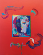 HAND SIGNED FAUVE (OVERPAINT) BY PETER MAX RETAIL $3.5K
