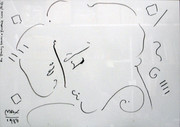 Hand Signed Face By Peter Max Framed Retail $2.73K