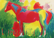 Hand Signed Northern Dancer By Peter Max Retail $3.5K