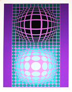 Hand Signed Oltar Zoeld By Victor Vasarely Retail $3.25K