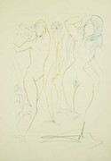 Signed Adam & Eve By Salvador Dali Retail $7K