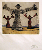 Hand Signed Don Quijote - The Spinning Man By Salvador Dali Retail $6.5K