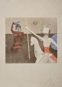 Hand Signed Off To Battle By Salvador Dali Retail $2.94K