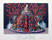 Hand Signed Autumn Cannibalisms By Salvador Dali Retail $3K