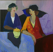 Hand Signed Table for Two by Itzchak Tarkay Framed Retail $38K