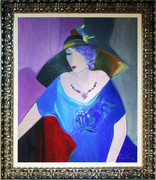 Hand Signed Lilac Thoughts by Itzchak Tarkay Framed Retail $35K