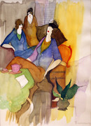 Hand Signed Women In The Lounge by Itzchak Tarkay Retail $6.4K
