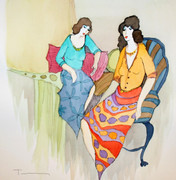 Hand Signed Brunettes by Itzchak Tarkay Retail $5.9K