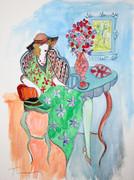 Hand Signed Spring Bouquet by Itzchak Tarkay Retail $5.2K