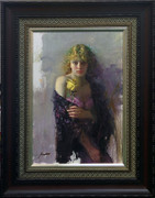 Hand Signed A Woman Of Mystery By Pino Framed Retail $50K