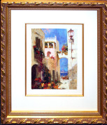 Hand Signed Seaside Through The Arch By Pino Framed Retail $2.75K