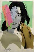 Hand Signed Mick Jagger FS II.140 By Andy Warhol