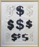 Hand Signed Dollar Signs By Andy Warhol Retail $350K
