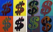 Hand Signed $ (Quadrant) FS II.283-284 By Andy Warhol Retail $495K