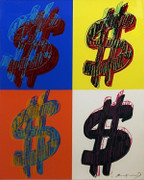 Hand Signed $ (Quadrant) FS II.284 By Andy Warhol Retail $295K