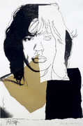 Hand Signed Mick Jagger FS II.146 By Andy Warhol