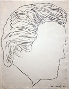 Signed Untitled (Jon Gould) By Andy Warhol Retail $165K