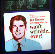 Hand Signed Ads: Van Heusen (Ronald Reagan) FS II.356 By Andy Warhol Retail $49K