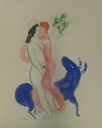 Le Bete Bleue By Marc Chagall Retail $3.5K