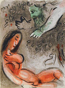 Eve Incurs God's Displeasure By Marc Chagall Retail $1.2K