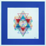 Hand Signed Star Of David By Yaacov Agam Framed Retail $14K