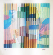 Hand Signed Untitled By Yaacov Agam Retail $3.5K
