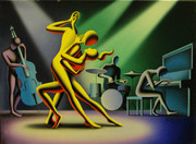 Hand Signed All The Right Notes By Mark Kostabi Retail $10.4K