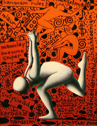 Hand Signed Untitled By Mark Kostabi