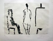 Hand Signed Peintre Au Repos Avec Modèle Assis En Tailleur By Pablo Picasso Retail $22.5K