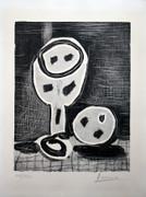 Hand Signed Nature Morte Au Verre Et A La Pomme by Pablo Picasso Retail $20K