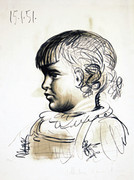 Signed Portrait D'enfant by Pablo Picasso