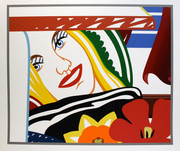 Hand Signed From Bedroom Painting #41 By Tom Wesselmann