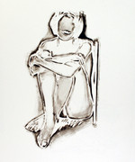 Hand Signed Monica Sitting By Wall By Tom Wesselmann Retail $16K