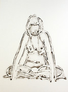 Hand Signed Monica Sitting Cross-Legged By Tom Wesselmann Retail $16K