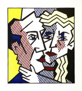 Hand Signed The Couple By Roy Lichtenstein Framed Retail $80K