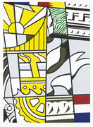 Hand Signed Bicentennial Print By Roy Lichtenstein Retail $24K