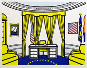 Hand Signed Oval Office By Roy Lichtenstein Framed