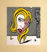 Signed Blonde (Surrealist Series) By Roy Lichtenstein Retail $95K