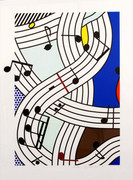 Hand Signed Composition I By Roy Lichtenstein Retail $100K