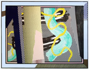 Hand Signed Reflections On Brushstrokes By Roy Lichtenstein Retail $85K