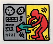 Hand Signed Pop Shop III (1) By Keith Haring FramedRetail $20K