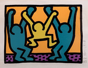 Hand Signed Pop Shop I By Keith Haring Framed Retail $19K