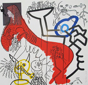 Hand Signed Apocalypse IV By Keith Haring