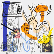 Hand Signed Apocalypse VII By Keith Haring Retail $18K