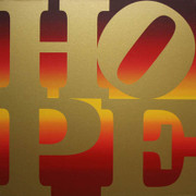 Hand Signed Hope IV Autumn By Robert Indiana Retail $195K