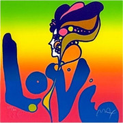 LAST ONE!!! Love, Ltd Ed Silkscreen, Peter Max - Signed With Coa