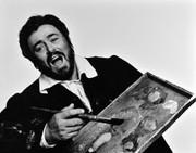 Luciano Pavarotti, Vintage 1975 Gelatin Silver Photograph, Jack Mitchell